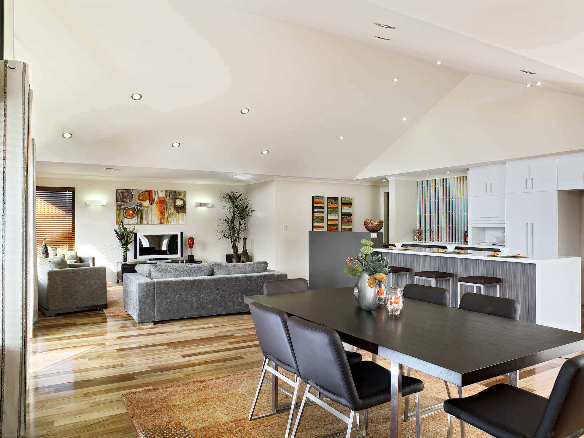 Rural Building Co - The Coastal View - open-plan kitchen