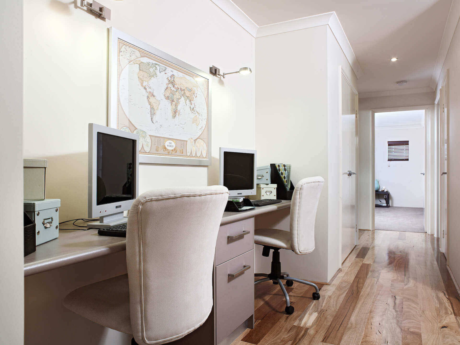 Rural Building Co - The Coastal View home office