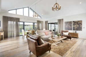 Rural Building Co - Open-plan living room and dining room